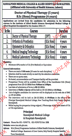 Rawalpindi Medical College Admission in DPT and BSc 2018 Government on dg khan medical college, new york city medical college, army medical college, king edward medical college, sialkot medical college, azad kashmir medical college, nust medical college, allama iqbal medical college, gujranwala medical college, karachi medical college, peshawar medical college, khyber medical college, nishtar medical college, punjab medical college, sindh medical college, dhaka medical college, bolan medical college, wah medical college, ayub medical college, dera ghazi khan medical college,