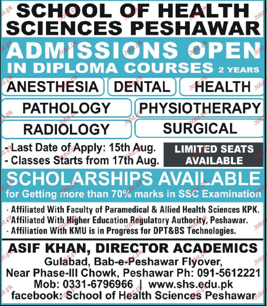 School of Health Sciences Peshawar Admission in Diplomas