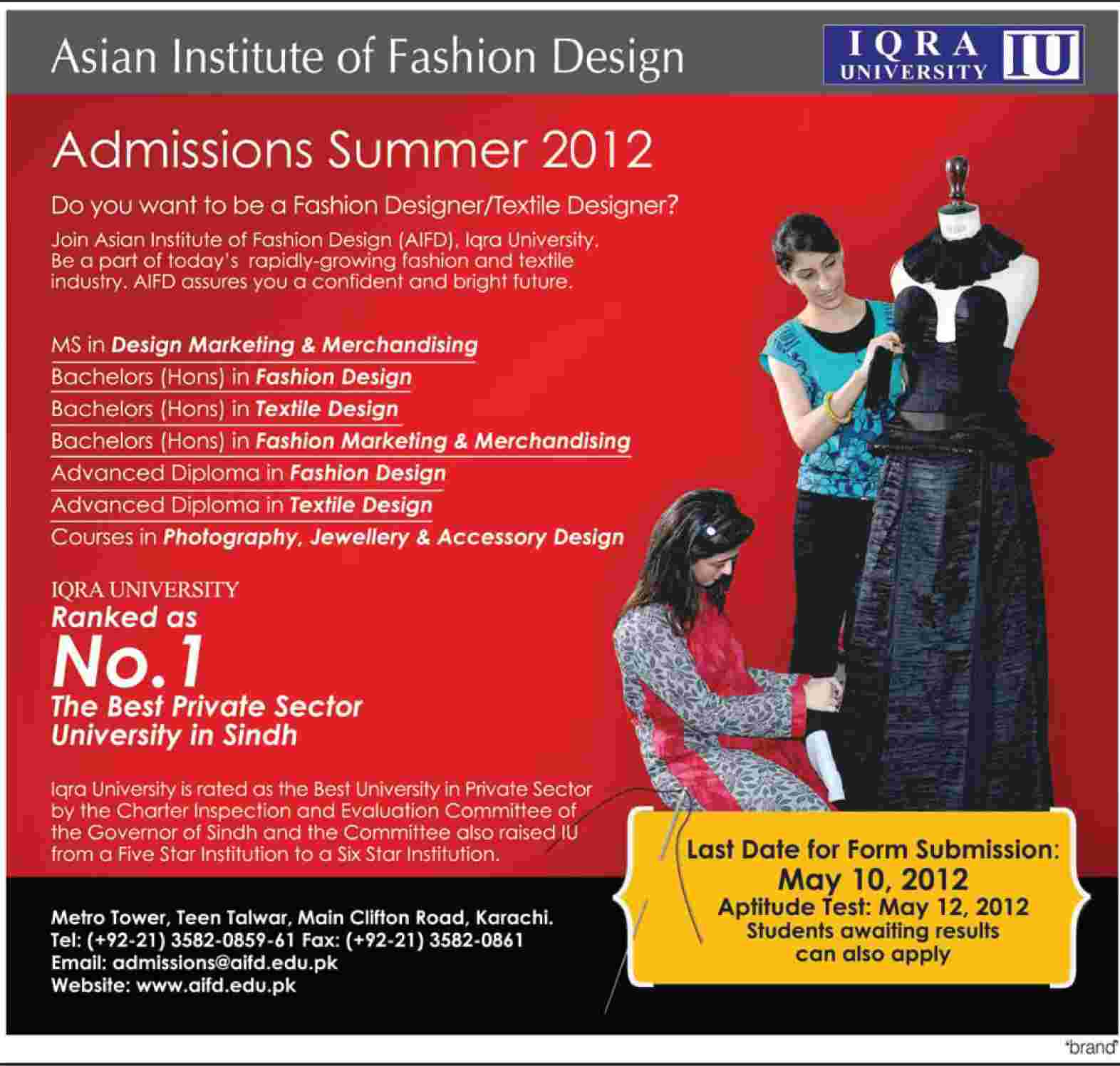 Iqra university fashion designing karachi 28