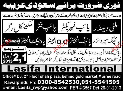 Multi Welders, Pipe Fabricators, Pipe Fitters  Required