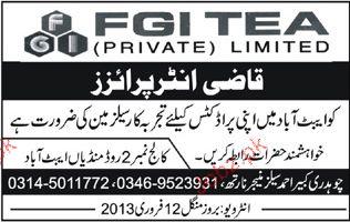Salesman Job Opportunity