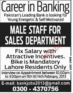 Sales Staff Job Opportunity