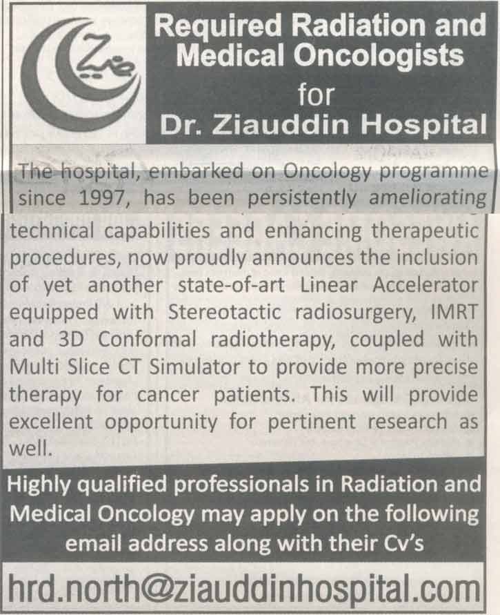 Radiation and Medical Oncologists Job Opportunity