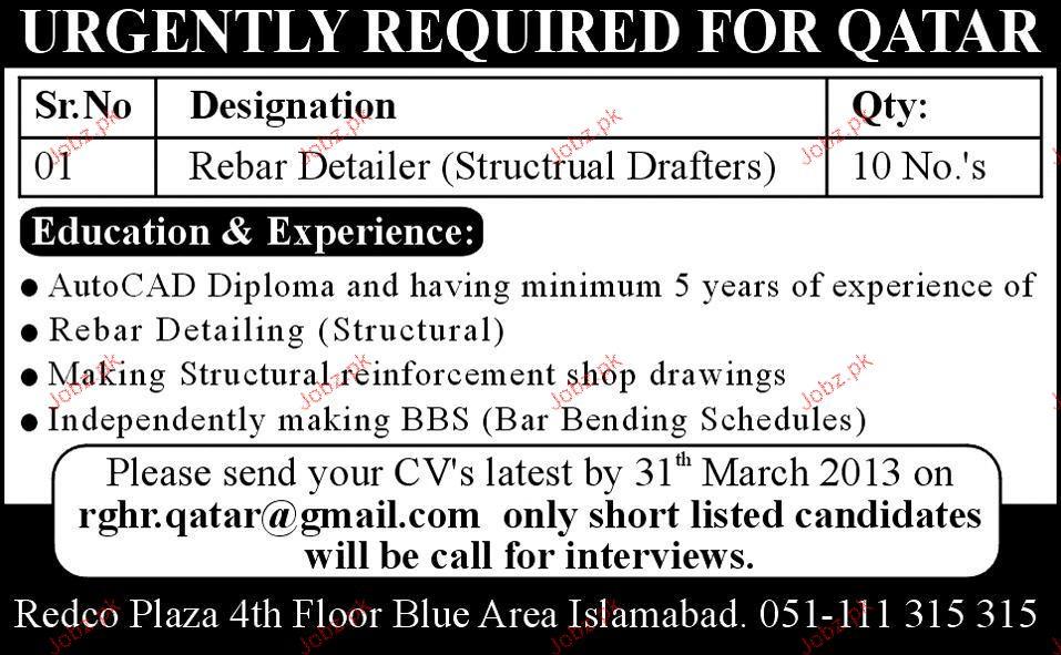 rebar detailer resume