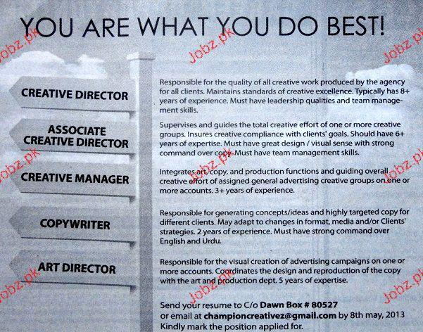 thought. job description for a parent. creative director art ...