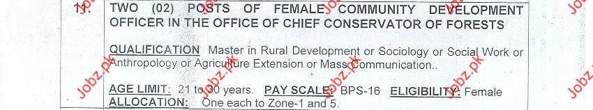 Female Community Development Officer