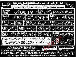 Electrical Technicians, Fire Fighters Job Opportunity