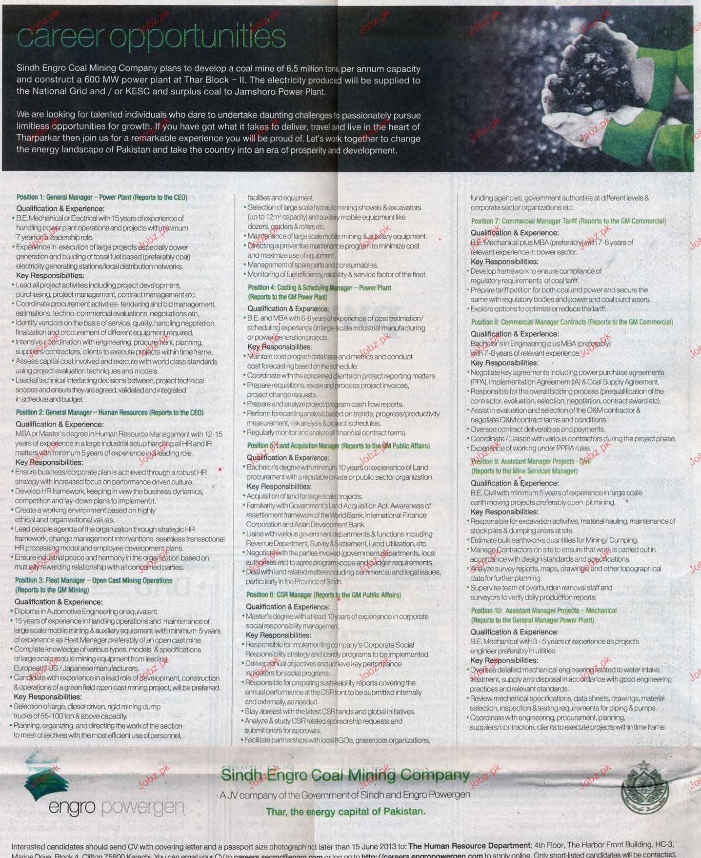 General Manager Power Plant Job Opportunity 2018 Jobs Pakistan Jobz