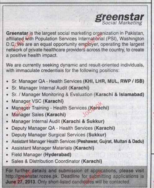 Senior Manager QA, Manager VSC Job Opportunity