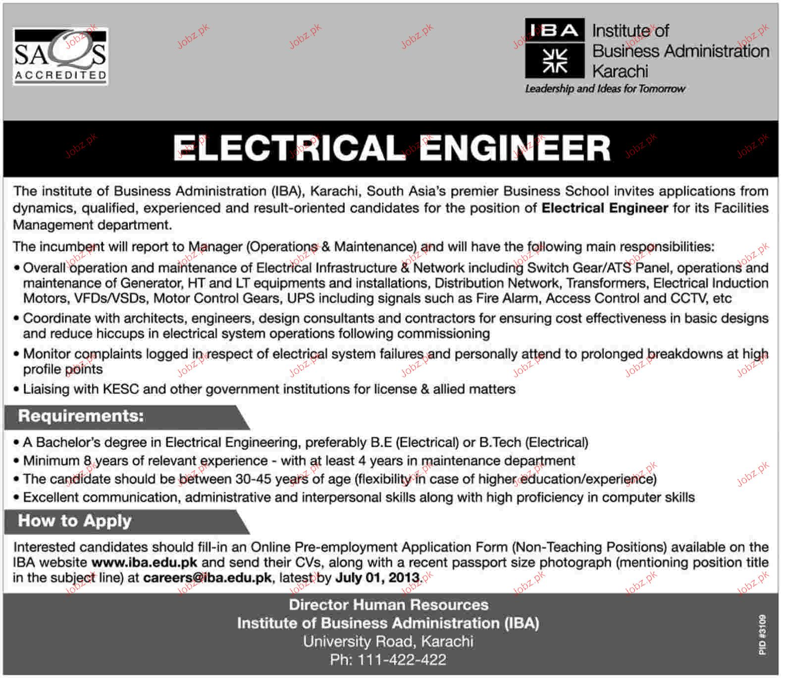 job description of electrical engineer