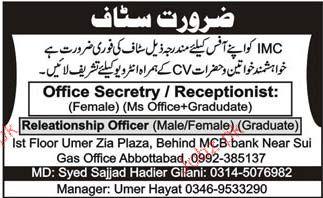 Office Secretary, Receptionist Job Opportunity