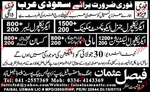 Agriculture General Equipment  Mechanics Job Opportunity