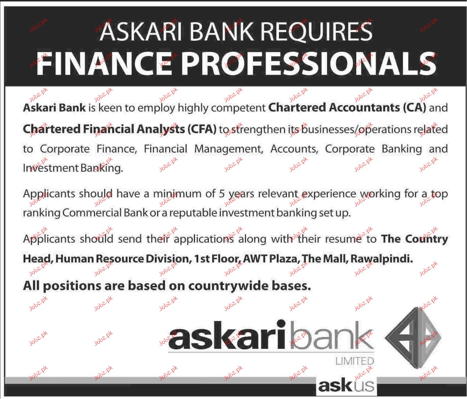 Chartered Financial Analyst Job Opportunity 2018 Jobs Pakistan
