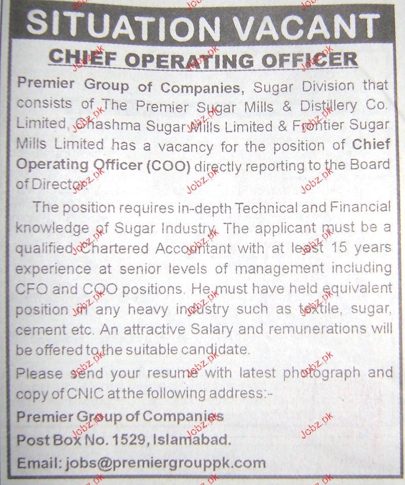 country manager coo job selection Job brief we are looking for an experienced chief operating officer or coo to oversee our organization's ongoing operations and proceduresyou will be the company's second-in-command and responsible for the efficiency of business.