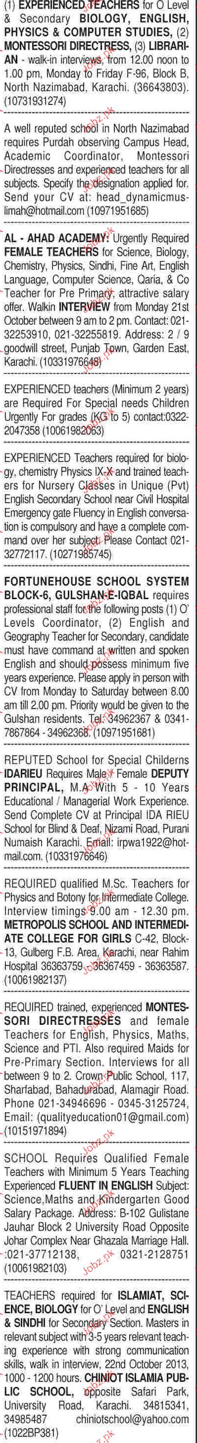 sunday dawn classified teaching staff job opportunity 2017 jobs sunday dawn classified teaching staff job opportunity