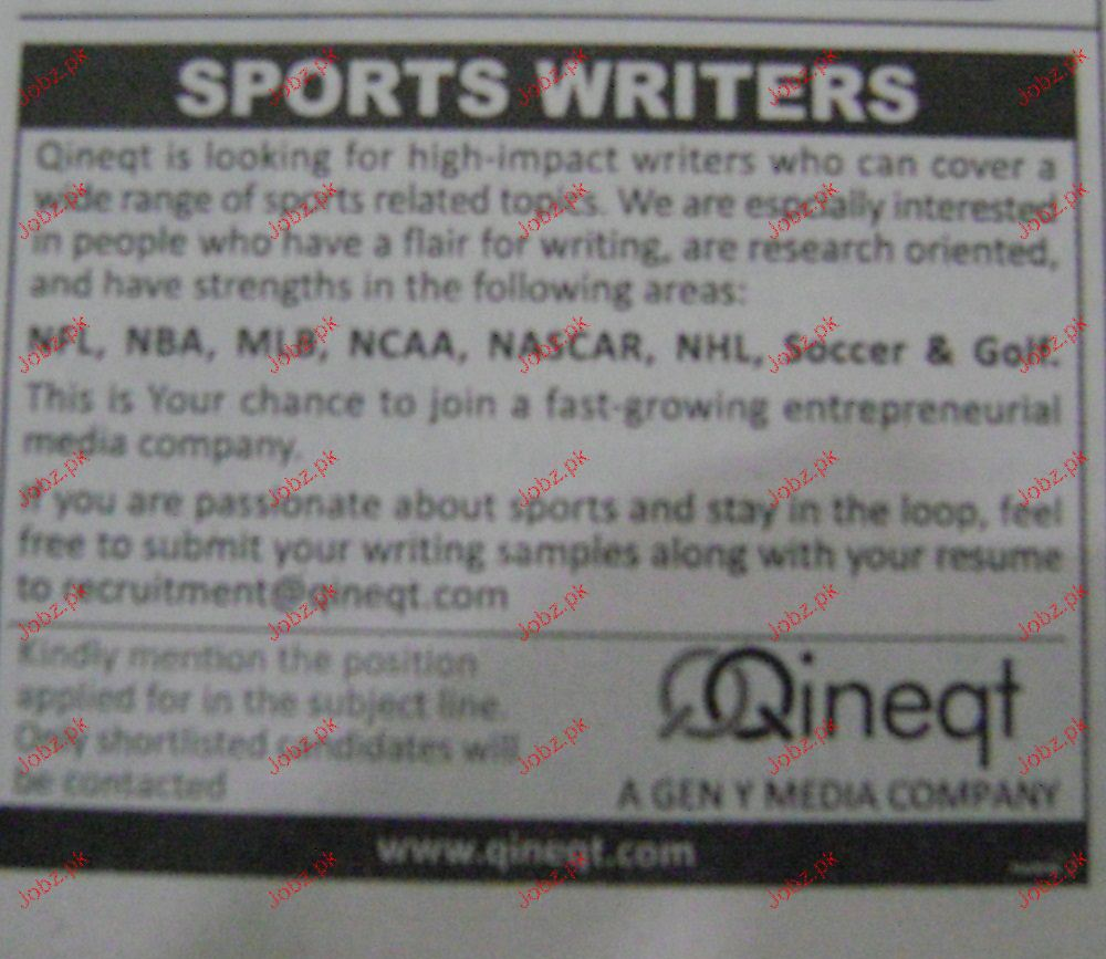 sports writers job opportunity jobs pk sports writers job opportunity