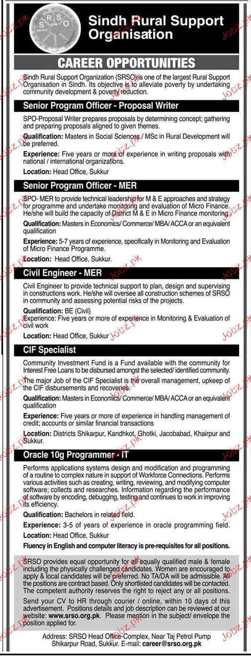 Senior Program Officers, Civil Engineers Job Opportunity