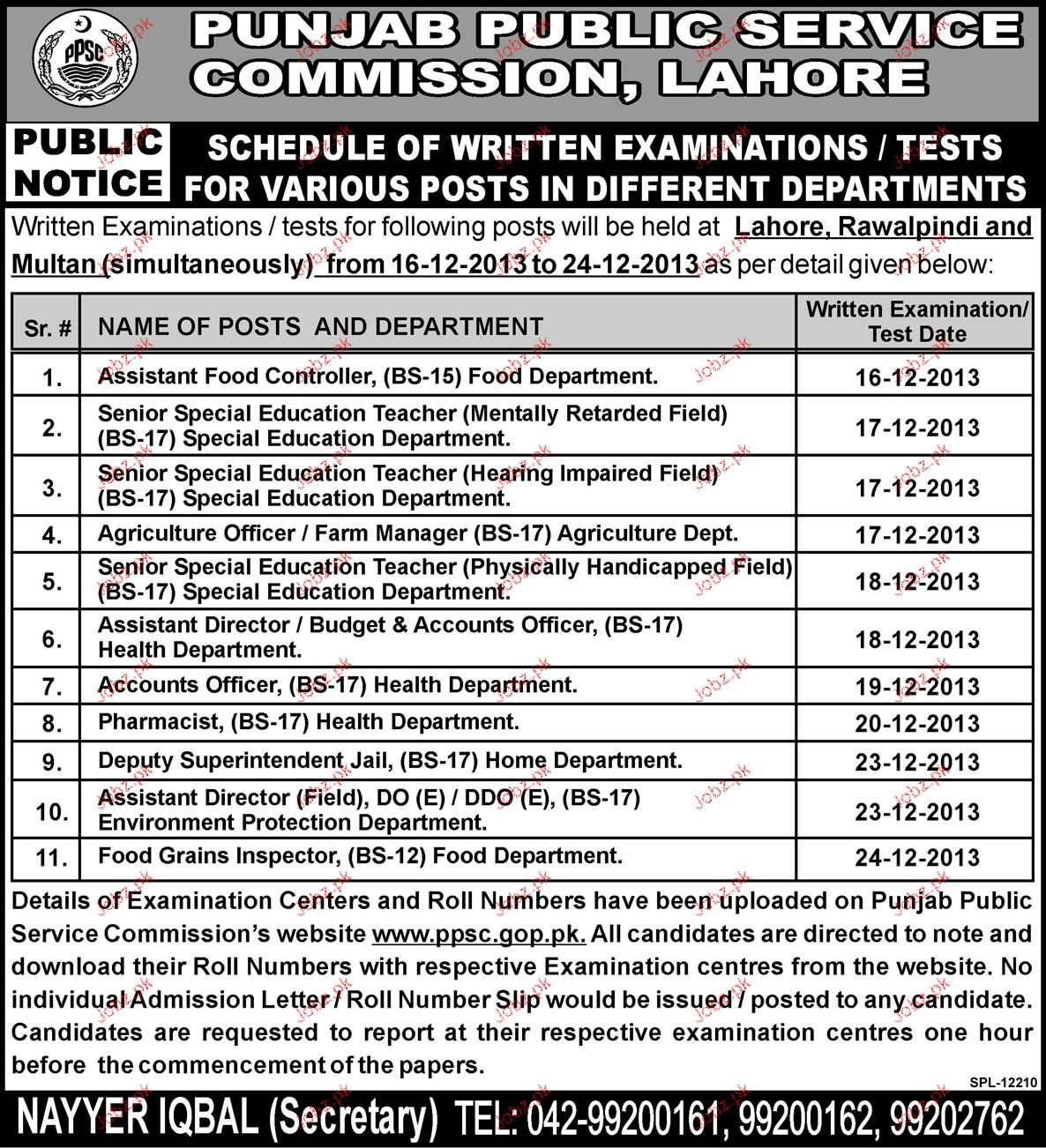 Assistant Food Controller, Assistant Director Job in PPSC