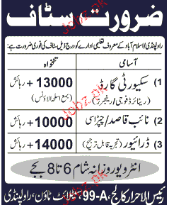 Naib Qasid, Security Guards  Job Opportunity