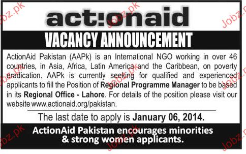 Regional Programme Manager Job Opportunity