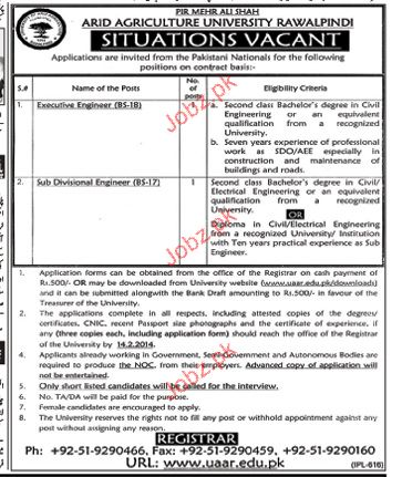 Executive Engineer and Sub Divisional Engineer Wanted