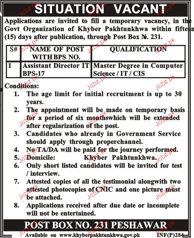 Assistant Director IT  Job Opportunity