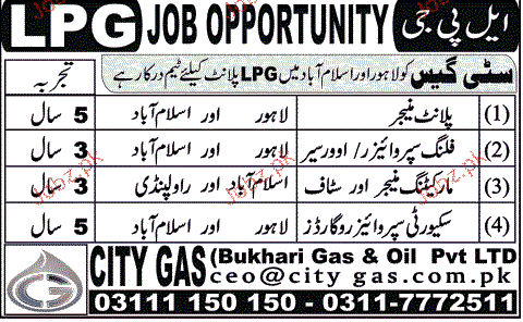 Plant Managers,l Filling Supervisors Job Opportunity