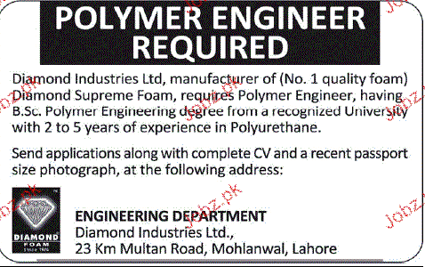 Polymer Engineers Job Opportunity
