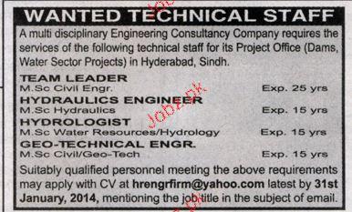 Team Leaders, Hydraulic Engineers Job Opportunity