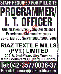 Programmer / IT Officers Job Opportunity