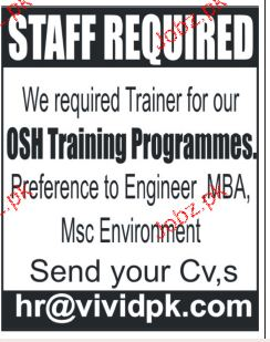 OSH Training Programmers Job Opportunity