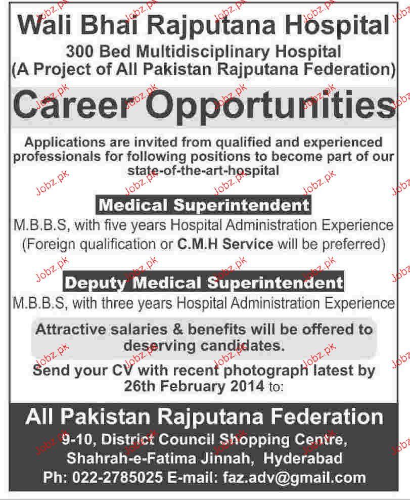 Medical Superintendent Job Opportunity