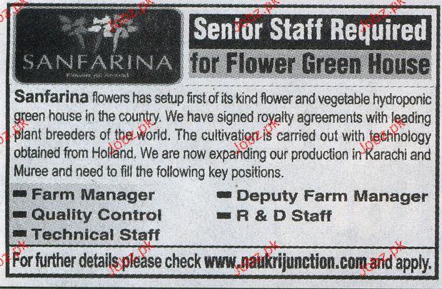 Farm Manager, Quality Control, Deputy Farm Manager Wanted