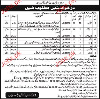 Junior Clersk, Niab Qasid, Sweepers and Drivers Wanted