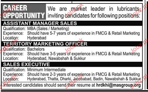 Assistant Manager Sales, Job Opportunity