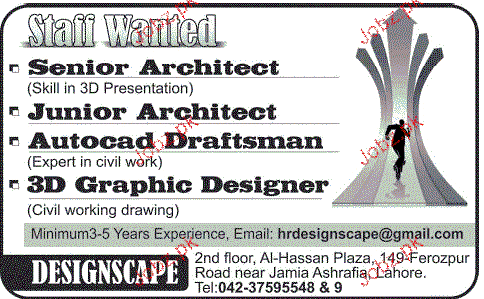 Senior Architect, Junior Architect Job Opportunity
