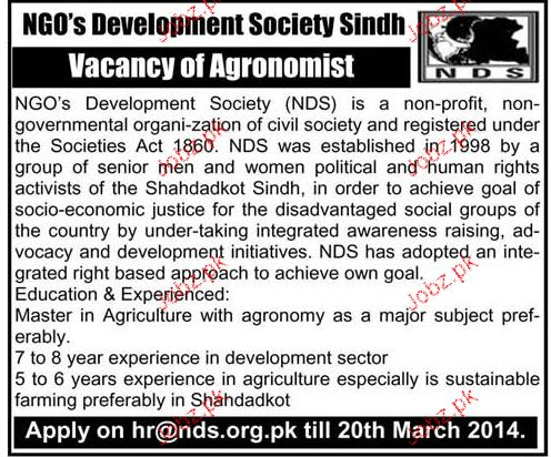 NGO Staff Job Opportunity