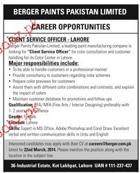 Client Service Officers Job Opportunity