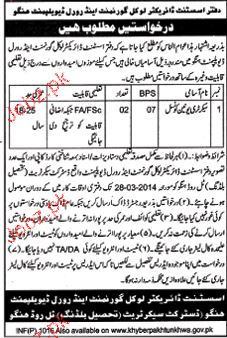Secretary Union Council Job in Local Government and Rural 2019 Job