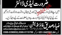 Lady Doctors Job Opportunity