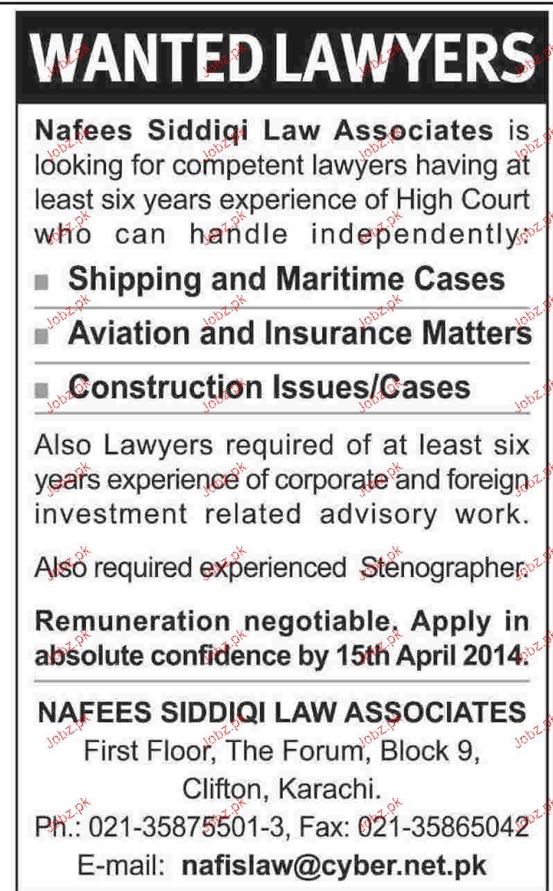 Lawyers Job Opportunity