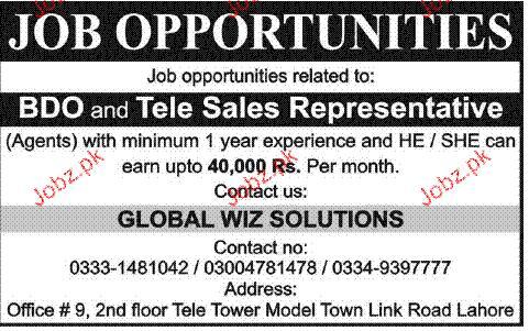 Telesales representatives job opportunity 2016 jobs pakistan jobz pk