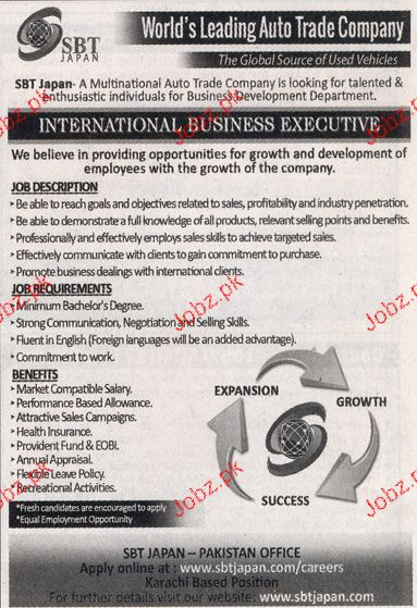 Business Executives Job Opportunity