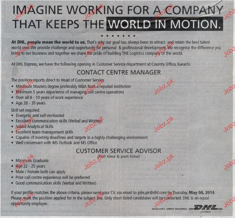 Contact Center Manager and Customer Service Adviser Wanted