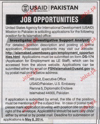Investigator Job Opportunity