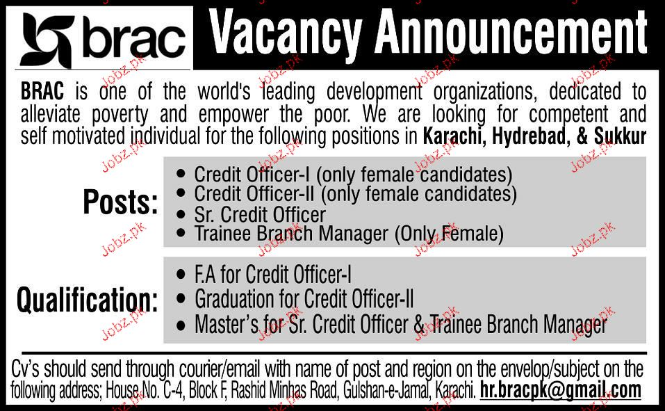 Credit  Officers, Senior Credit Officers Job Opportunity