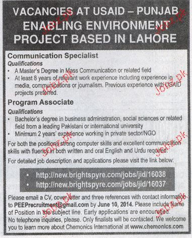 Communication Specialist and Program Associates Wanted