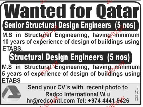 Senior Structural Design Engineers Job Opportunity 2020 Job Advertisement Pakistan