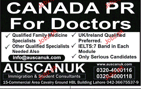 Doctors Job Opportunity