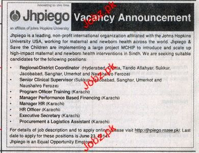 Manager HR, HR Officers, Executive Secretary Job Opportunity